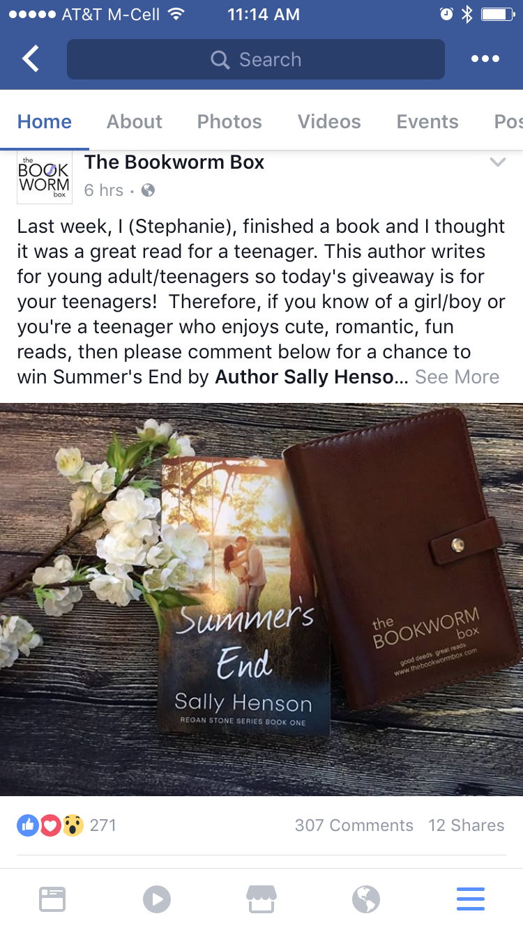 Colleen Hoover's The Bookworm Box features Summer's End